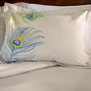 Superior Peacock 3-piece Embroidered Cotton Duvet Cover Set (3 options available)