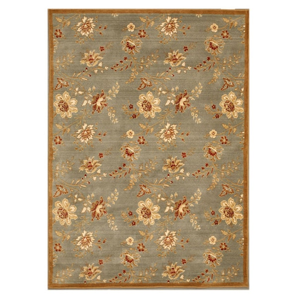 Blue Traditional Floral Florance Area Rug (7'10 x 11'2) - 7'10 x 11'2