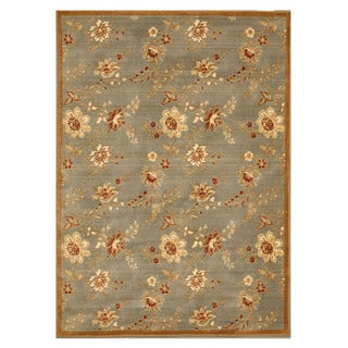 Blue Traditional Floral Florance Area Rug (7'10 x 11'2)