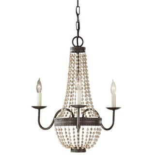 Charlotte 3-light Peruvian Bronze Chandelier