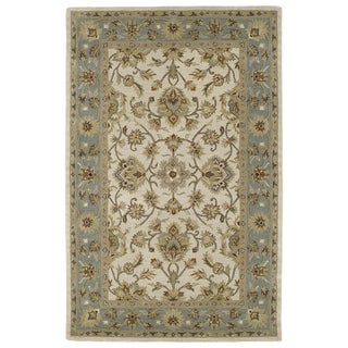 Hand-tufted Lawrence Beige Kashan Wool Rug (2'0 x 3'0)