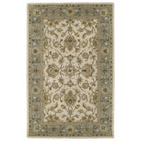 Hand-tufted Lawrence Beige Kashan Wool Rug (2'0 x 3'0)