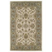 Hand-tufted Lawrence Beige Kashan Wool Rug (3'0 x 5'0)