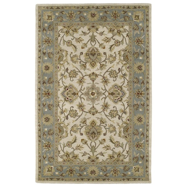 "Hand-tufted Lawrence Beige Kashan Wool Rug (7'6 x 9'0) - 7'6"" x 9'"