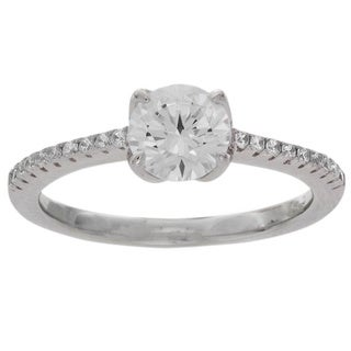 NEXTE Jewelry Sterling Silver Round Cut Solitaire Ring