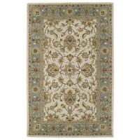 Hand-tufted Lawrence Beige Kashan Wool Rug - 9'6 x 13'