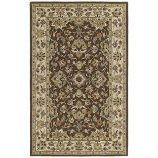 Hand-tufted Lawrence Brown Kashan Wool Rug (8'0 x 11'0)
