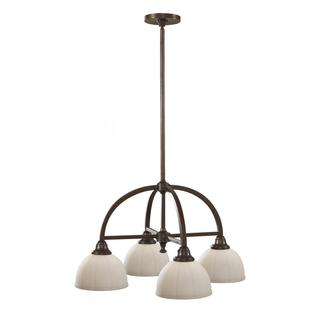 Perry 4-light Heritage Bronze Chandelier