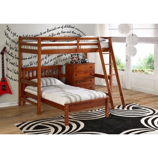 Donco Kids Modular Study Loft with Twin Contempo Bed and 5-drawer Chest