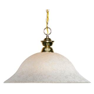 Z-Lite 1-light Polished Brass Pendant