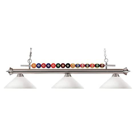 Avery Home Lighting Pool Balls 3-light Brushed Nickel Billiard Pendant - Black/brown