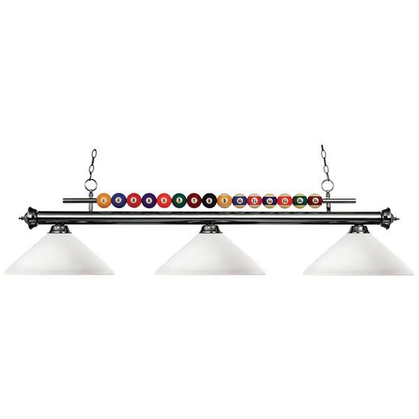 Avery Home Lighting 3-light Gun Metal Billiard Pendant