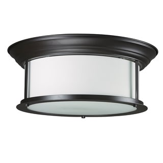 Z-Lite 2-light Bronze Ceiling Lamp