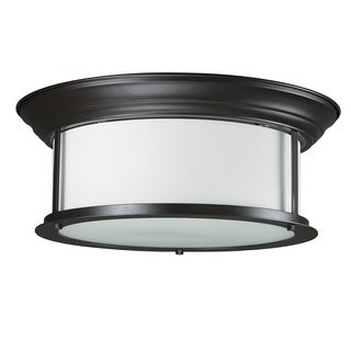 Z-Lite 2-light Bronze Ceiling Lamp