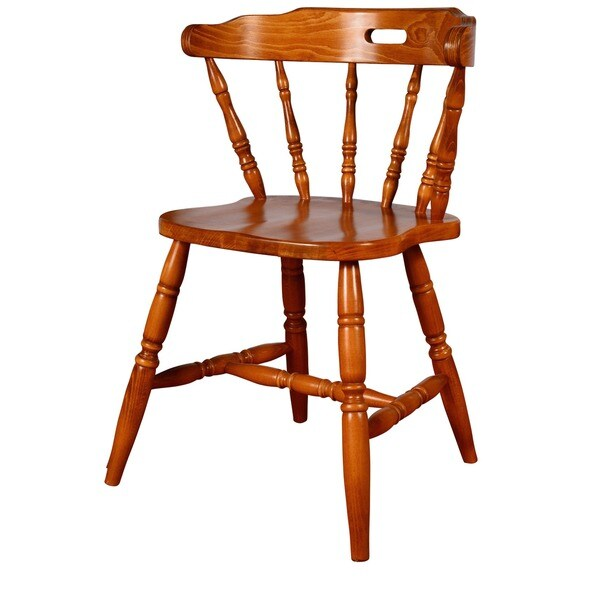 Genial Solid Wood Colonial Dining Chairs (Set Of 2)