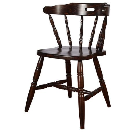 Solid Wood Colonial Dining Chairs (Set of 2)