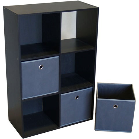 Proman Colonial Wood 6-cell Storage Cube