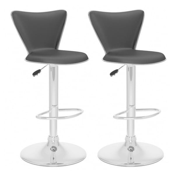 Corliving B 2x7 Upd Tall Adjustable Bar Stool Set Of 2