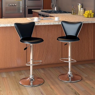 CorLiving Tapered Back Leatherette Adjustable Barstool (Set of 2)