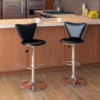 CorLiving Tapered Back Leatherette Adjustable Barstool (Set of 2)