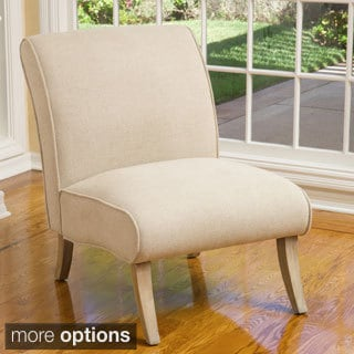 Georgette Beige Linen Slipper Chair by Christopher Knight Home