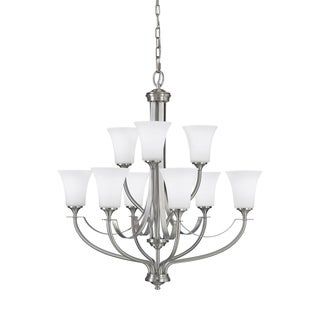 Barrington 9-light Brushed Steel Chandelier