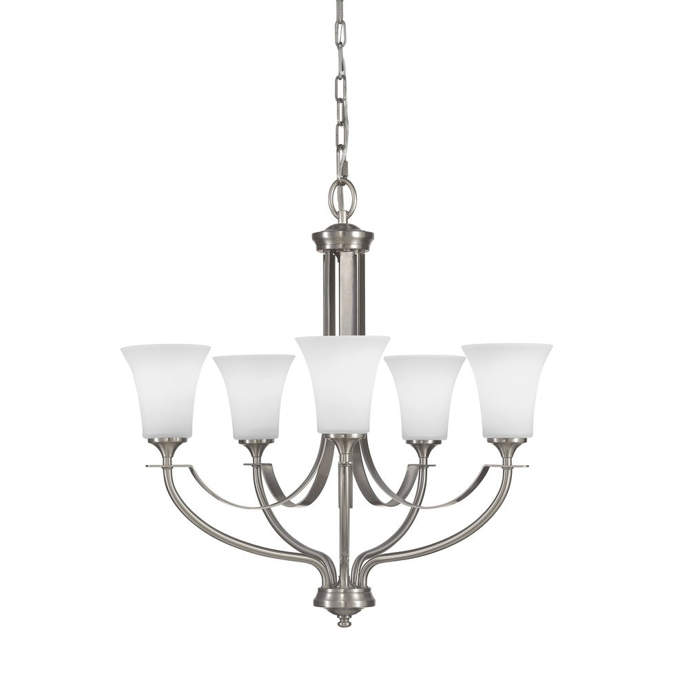 5 Light Chandelier Oil Rubbed Bronze Finish with Highlights