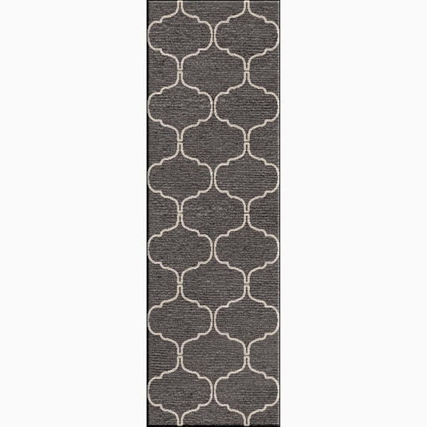 Shop Handmade Geometric Gray Silver Area Rug 2 6 Quot X 8