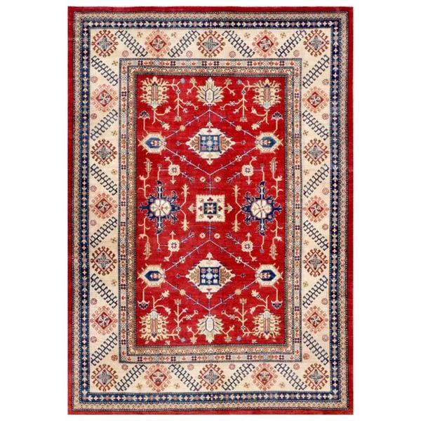 Handmade Herat Oriental Afghan Kazak Wool Rug (Afghanistan) - 7'10 x 11'2