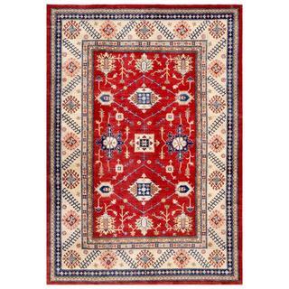 Handmade Kazak Wool Rug (Afghanistan) - 7'10 x 11'2