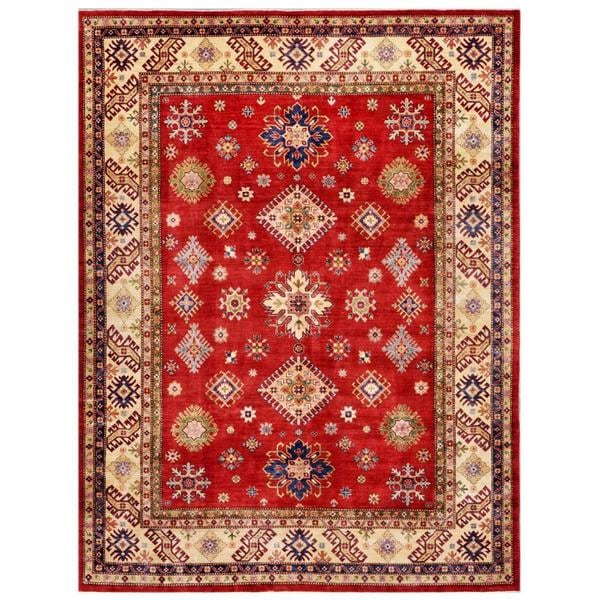 Herat Oriental Afghan Hand-knotted Kazak Wool Rug (8'10 x 11'10) - 8'10 x 11'1