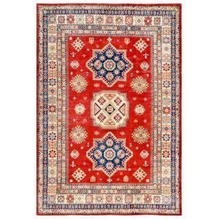 Herat Oriental Afghan Hand-knotted Kazak Wool Rug (6'7 x 9'5)