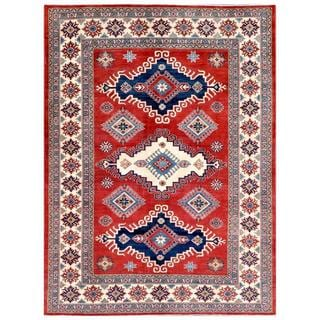 Herat Oriental Afghan Hand-knotted Kazak Wool Rug (6'8 x 8'10)