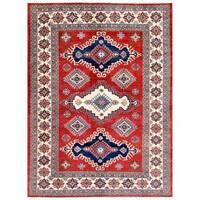 Handmade Herat Oriental Afghan Kazak Wool Rug  - 6'8 x 8'10 (Afghanistan)