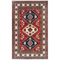 Herat Oriental Afghan Hand-knotted Kazak Wool Rug (5'9 x 9'4) - 5'9 x 9'4