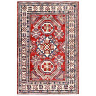 Herat Oriental Afghan Hand-knotted Kazak Wool Rug (6'3 x 9'7)