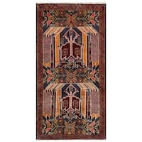 Herat Oriental Afghan Hand-knotted Tribal Balouchi Wool Area Rug (2'6 x 5') - 2'6 x 5'