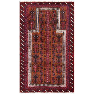 Herat Oriental Afghan Hand-knotted Tribal Balouchi Wool Rug (2'8 x 4'5)