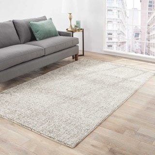Richmond Handmade Abstract Gray/ Light Gray Area Rug (5' X 8') - 5' x 8'