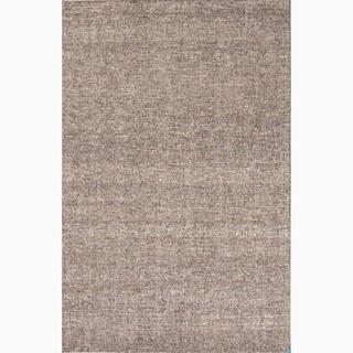 Richmond Handmade Solid Gray/ Tan Area Rug (5' X 8') - 5' x 8'