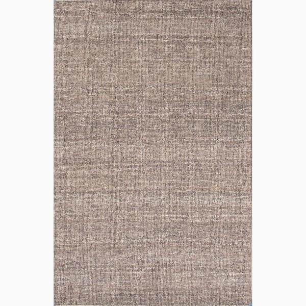 Richmond Handmade Solid Gray/ Tan Area Rug (8' X 10')