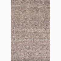 Richmond Handmade Solid Gray/ Tan Area Rug (8' X 10') - 8' x 10'