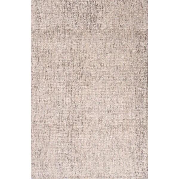 Richmond Handmade Solid White/ Brown Area Rug - 5' x 8'