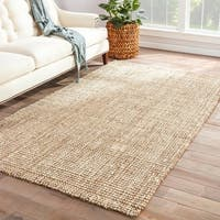 Havenside Home Caswell Natural Solid White/ Tan Area Rug - 9' x 12'
