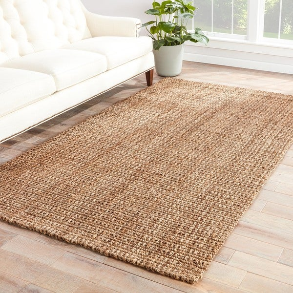 The Gray Barn Swann Natural Solid Taupe Area Rug - 2' x 3'