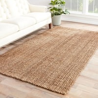 Havenside Home Southport Natural Solid Taupe Area Rug - 8' x 10'