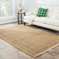 Antigua Natural Solid Beige Area Rug (4' X 6') - 4' x 6'