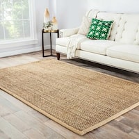 Antigua Natural Solid Beige Area Rug (8' X 10')