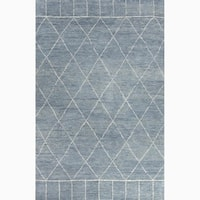 Hand-Knotted Tribal Blue Area Rug - 2' x 3'