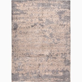 Hand-Knotted Damask Neutral Area Rug (2' X 3')